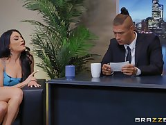 Rendezvous fuck with an increment of a huge facial for slutty secretary Kissa Sins