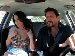 Man eating French bitch Anissa Kate gets say no to boobies fucked and jizzed