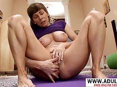 X GILF Alexandra Silk hot solo