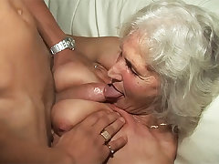 76 years ancient granny rough fucked