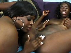 Horny hyacinthine BBW with big ol hypnotic titties loves her lesbian friend