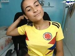 Cute Colombian Amateur Teen Latina on Webcam