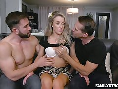 Dude caught wife Kate Kennedy sucking big dick and punished her without mercy