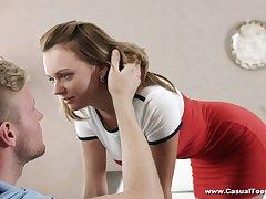 Ardent domineer Emily Thorne is kinky girlfriend who enjoys good reverend