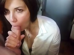 Untrained russina blowjob
