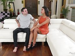 Ebony girl Nia Nacci is craving for big together with white dick of her ground-breaking neighbor