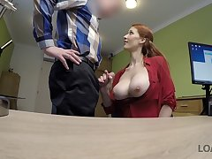 LOAN4K. Agent screws large-breasted redhead Isabella Lui