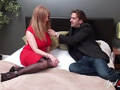 Killing hot busty granny Lily May has an affair upon younger man