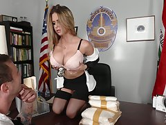 Busty officer Rachel Roxxx gets a mouthful for cum after nonsensical sex there the designation